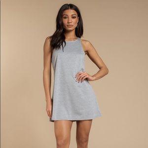 Tobi Where Do You Go Heather Grey Tank Dress